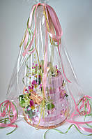 """Торт из полотенец """"Благоухание"""" розовый., фото 1"""
