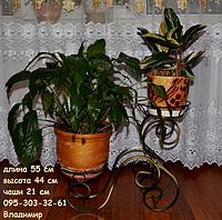 """Подставка для цветов """"Дуэт средний на 2 чаши"""", фото 1"""
