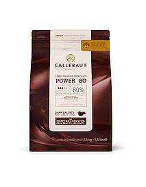 """Черный шоколад 80 % какао 2.5 кг (POWER 80) ТМ """"Barry Callebaut Belgium"""""""