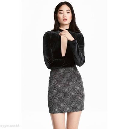 Новая короткая блестящая юбка H&M, фото 2