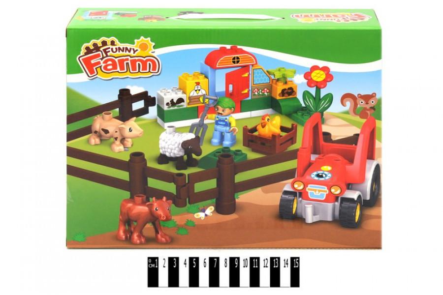 Конструктор для малюків Весела ферма 3332, фігурка, тварини (аналог лего дупло) 35 дет.