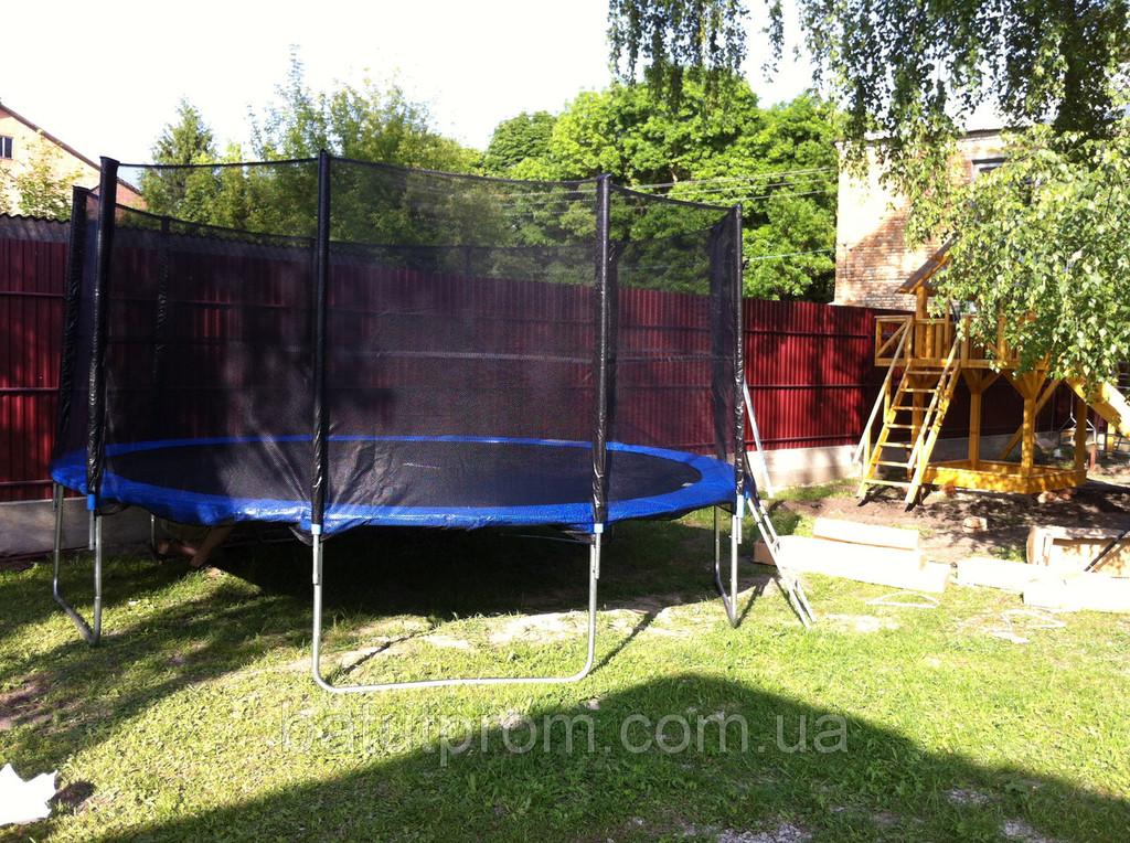 Батут для детей 465 см на детской площадке