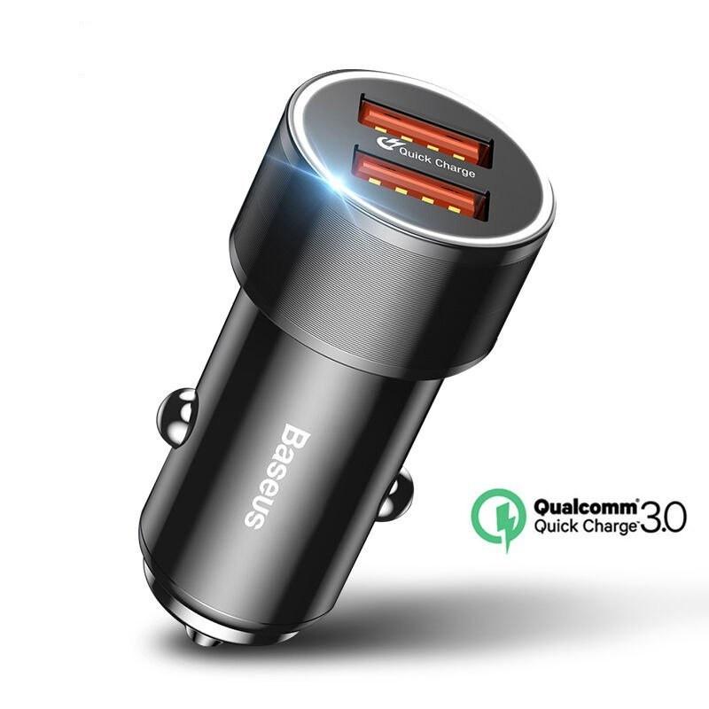 Автомобильное зарядное устройство BASEUS Dual USB Quick Charger 3.0