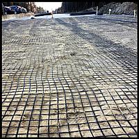 Сетка базальтовая для армирования дорожного покрытия