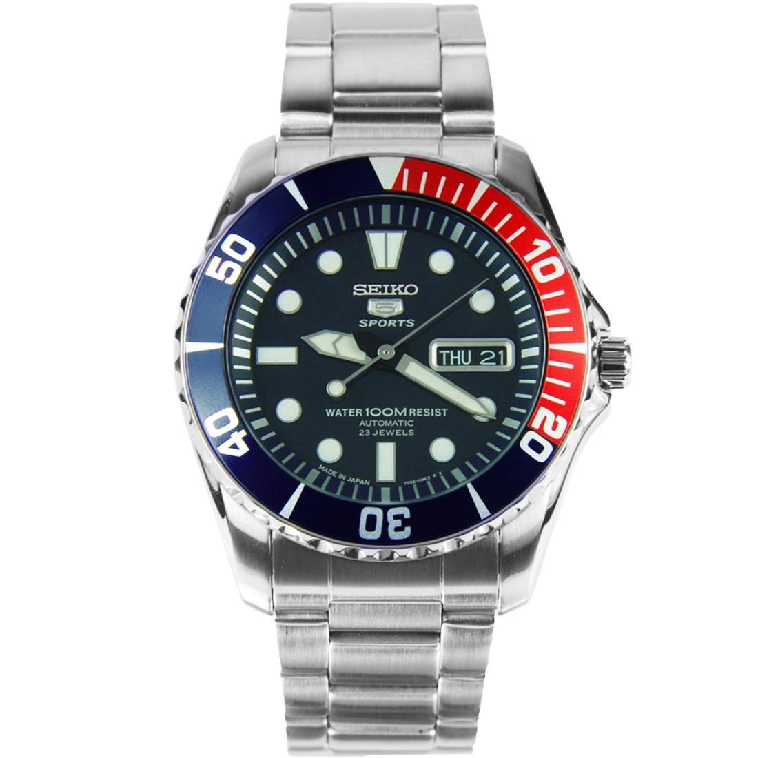 Часы Seiko SNZF15J1 Pepsi Automatic 7S36