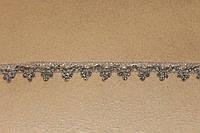 Тесьма декоративная люрекс серебро  6155
