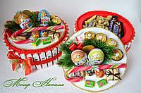 Торт з Кіндер шоколаду новорічний з наповненням, фото 1