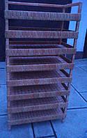 Плетеный стеллаж  на продукты, фото 1