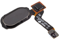 Шлейф для OnePlus 3 A3003/3T A3010, с кнопкой меню (Home), черного цвета
