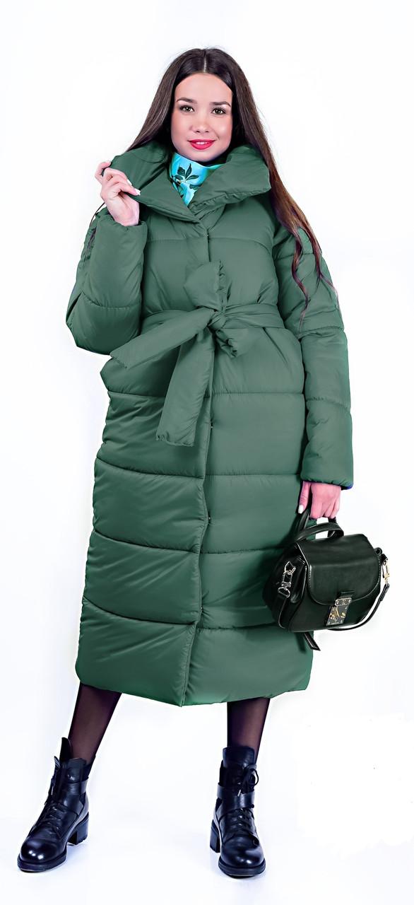 Куртка Sylvie пуховик стьобаний подовженний під пояс  продажа 617e2b83f99ed
