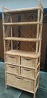 Этажерка плетеная из лозы с ящиками, фото 1