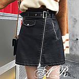 Женская юбка-косуха из эко-кожи, фото 2