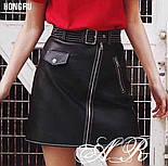 Женская юбка-косуха из эко-кожи, фото 6