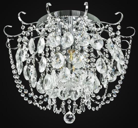 Люстра хрустальная хром AR-004566 5 ламп классика