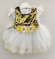 Детское платье 1 и 3 года для девочки Турция летнее хлопок платье нарядное на девочку, фото 1