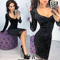Сукня Camila, облягаючого крою, бархат, фото 1