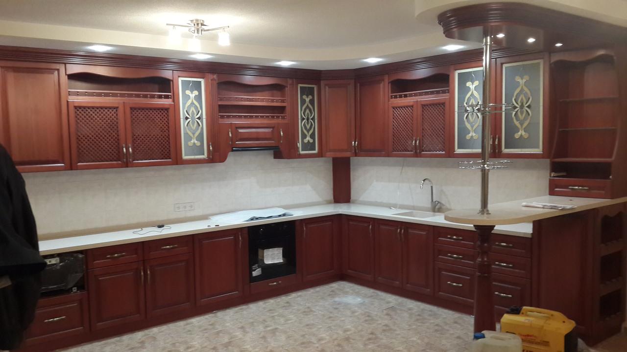 Кухонная мебель из ясеня