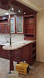 Кухонная мебель из ясеня, кухня из натурального дерева, фото 3