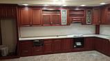 Кухонная мебель из ясеня, кухня из натурального дерева, фото 2