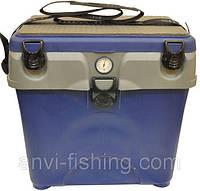 Ящик для зимней рыбалки A-elita с градусником синий  Подарок рыбаку,Оргинал