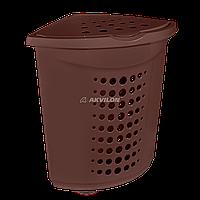 Корзина для білизни ТМ Алеана 45л. (кутова) (темно-коричневий) 122051