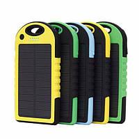 Повер банк Power Bank Solar 10000 mAh на солнечных батареях