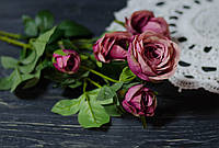 Ветка роз пыльно-розового цвета премиум, фото 1