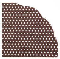 Салфетка Горошек белый на черном круглая  d-32 см