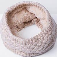 Стильный теплый шарф - хомут, снуд.