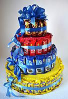 Подарунок для ласуни. Торт з шоколадок., фото 1