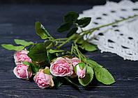 Ветка роз розового цвета кустовая премиум, фото 1