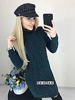 """Женское вязаное платье """"Косичка"""", фото 1"""