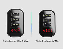 Сетевое зарядное устройство Baseus Multi USB 3.4A Black, фото 3