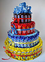 Торт из 100 батончиков шоколада. Вариант 3, фото 1