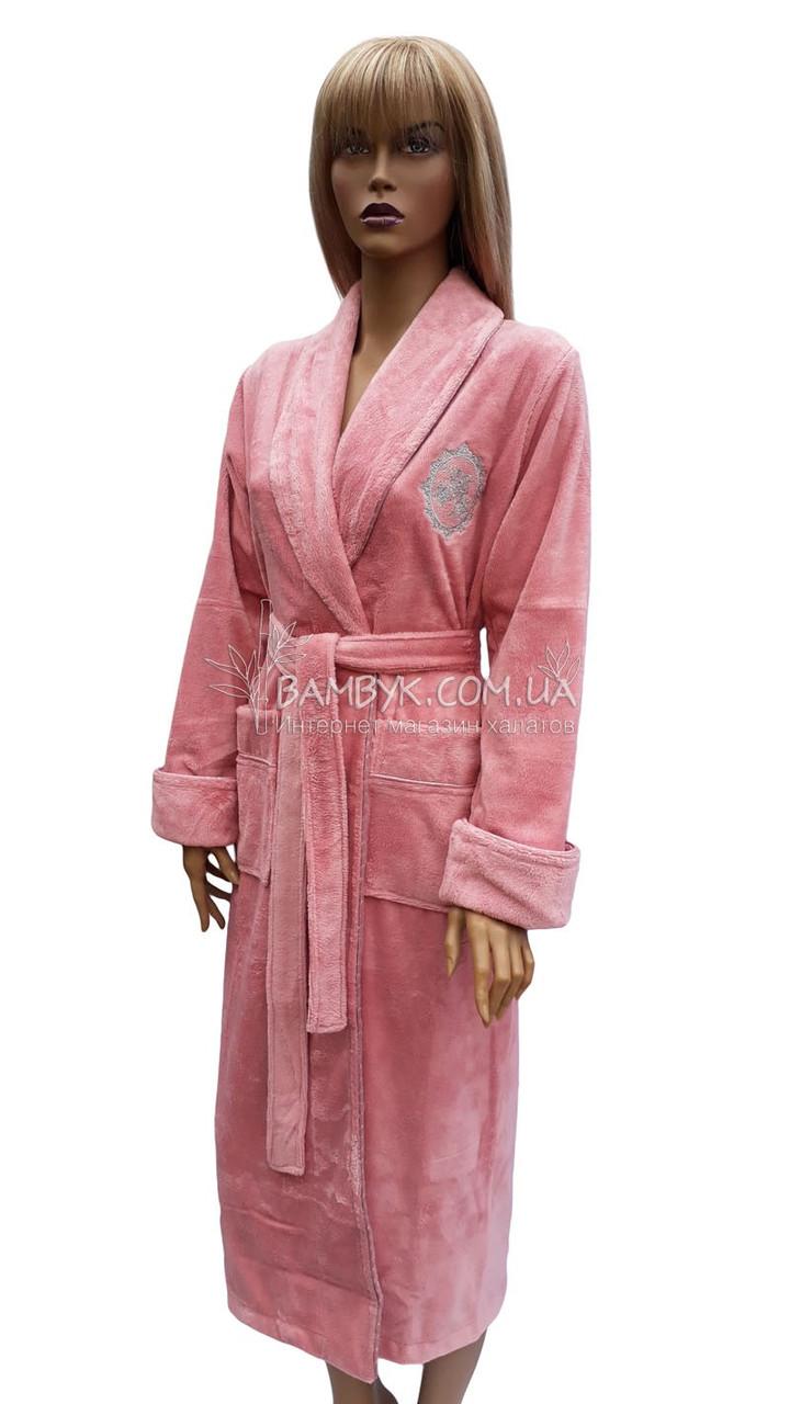 9394a6bcfb990 Длинный махровый халат Nusa цвета пудры NS-4030: продажа, цена в ...