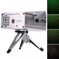 Лазерная светомузыкальная установка с LED подсветкой Laser Stage LSS-020, RG+9 LED Stroboflash