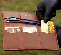 Кожаный портмоне-тревел, фото 2