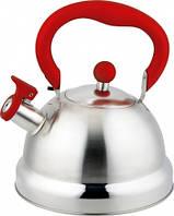 Чайник Con Brio со свистком 2.7л СВ-411 - красная ручка