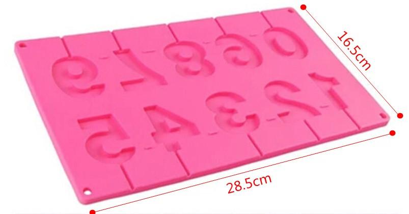 Силиконовая форма для конфет  цифры, молд силиконовый для конфет