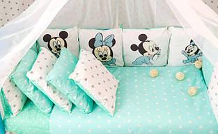 Детский постельный комплект Микки Маусы