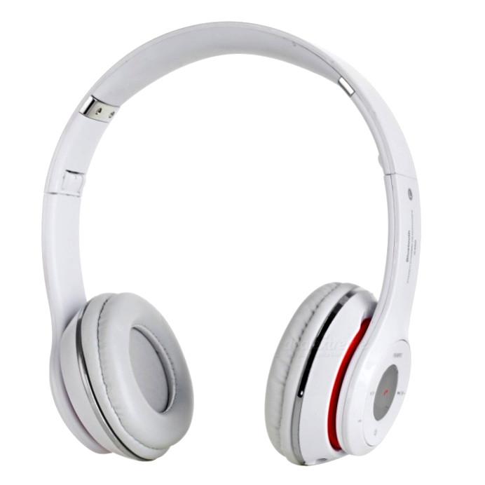 Бездротові навушники з MP3 плеєром і радіо, Bluetooth S460 Білі