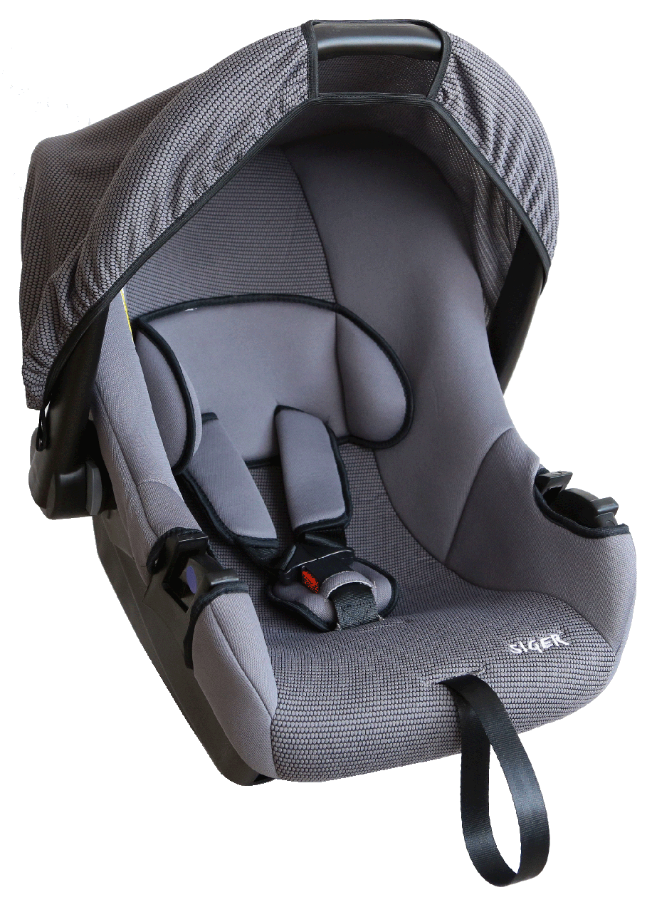 """Детское автомобильное кресло SIGER """"ЭГИДА"""" серый, 0-1.5 ГОДА, до 13 КГ, группа 0+"""