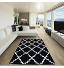 Ковер SKETCH 80x150 см - F343 белый черный Марокканский узор, фото 3