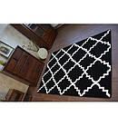 Ковер SKETCH 80x150 см - F343 белый черный Марокканский узор, фото 4