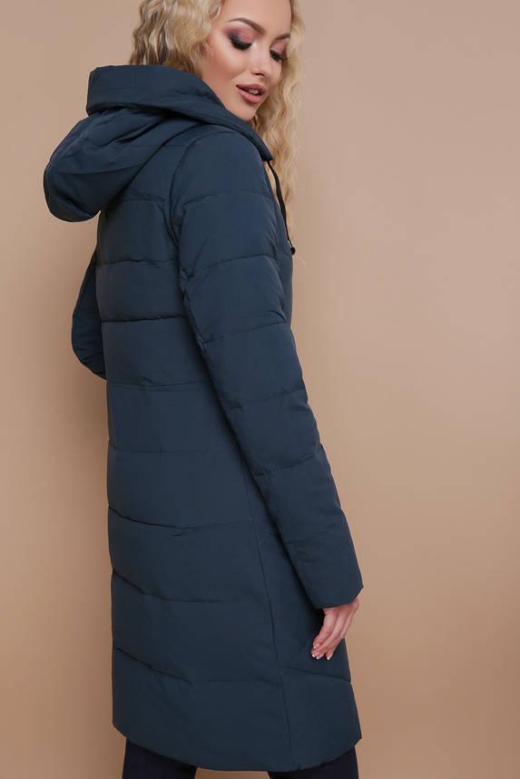 Куртка женская зимняя с капюшоном зеленая, фото 2