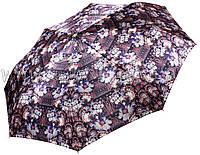 Женский зонт Три Слона Цветочный САТИН ( полный автомат ) арт.100-25