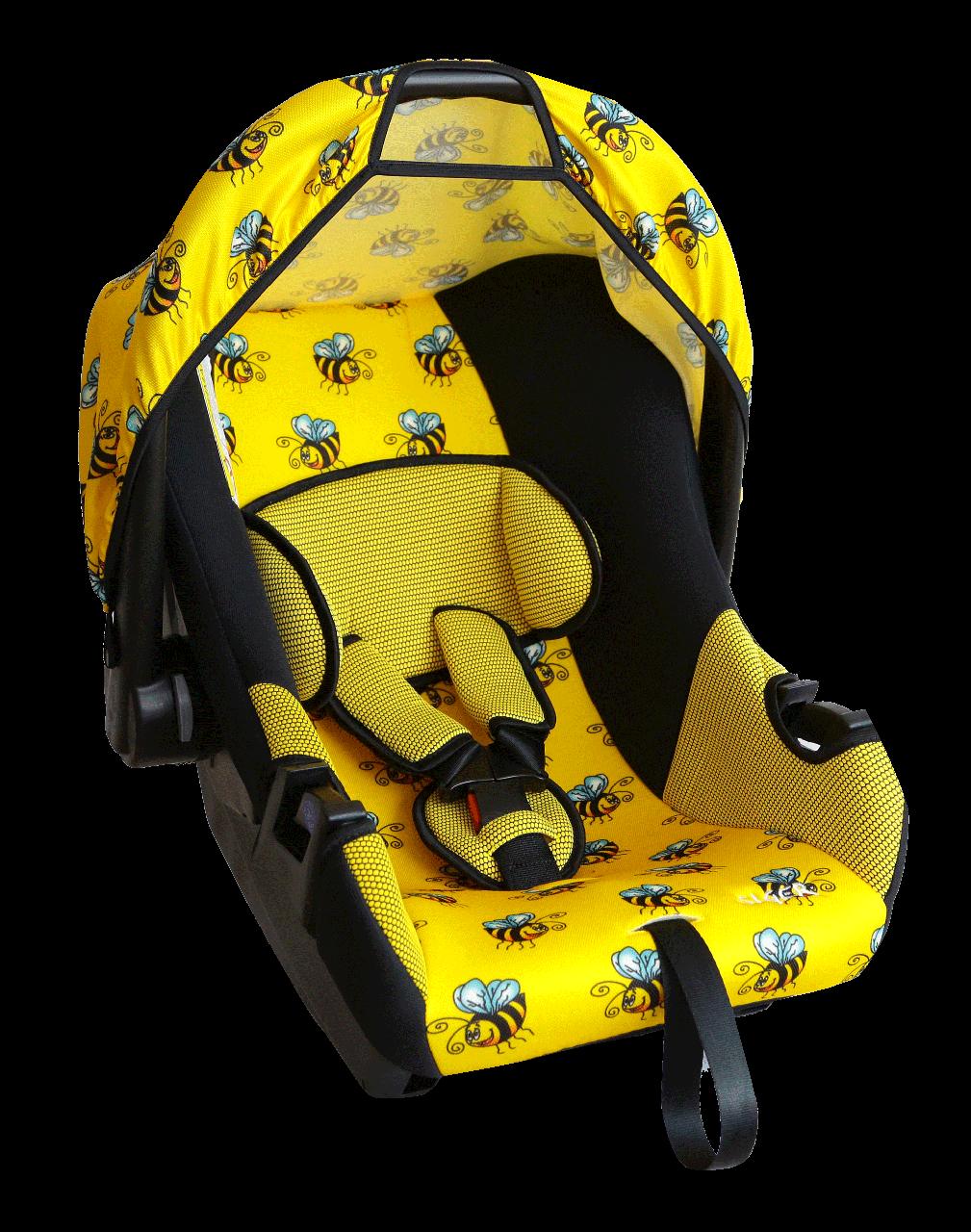 """Детское автомобильное кресло SIGER """"ЭГИДА"""" пчелка, 0-1.5 ГОДА, до 13 КГ, группа 0+"""