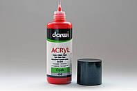 Акриловая матовая краска Darwi, для декоративных работ, объем 80мл, Красный 490