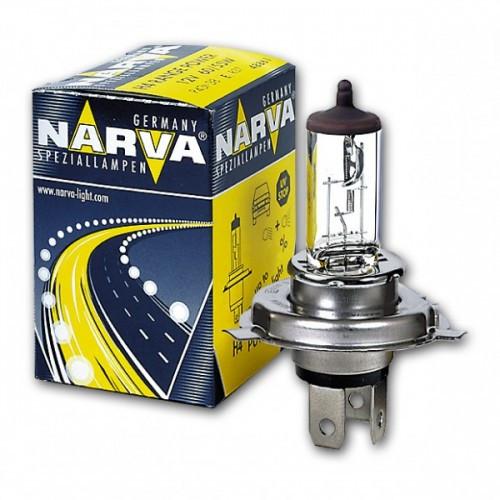 Галогенная лампа NARVA H4 12V 60/55W P43t RANGE POWER +50