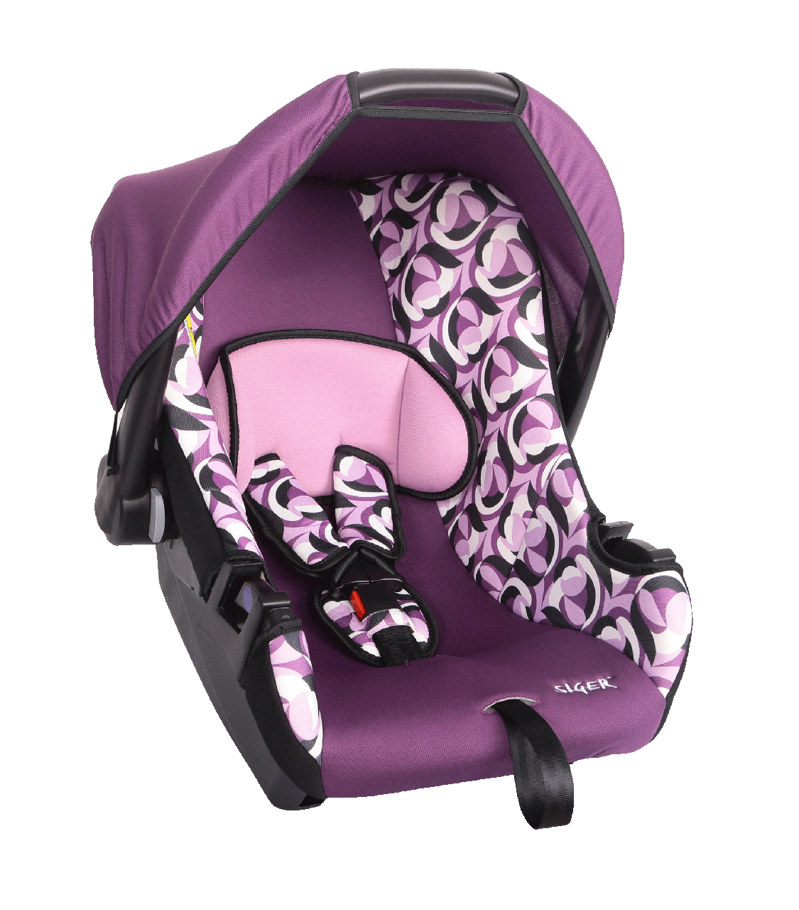"""Детское автомобильное кресло SIGER """"ЭГИДА"""" абстракция, 0-1.5 ГОДА, до 13 КГ, группа 0+"""